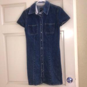 GAP denim jean long shirt